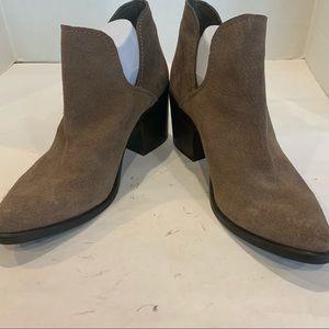 Steve Madden size 11 tan suede booties chunky heel